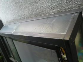 キッチン出窓ガラス工事施工前