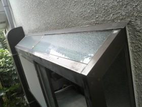 キッチン出窓ガラス工事